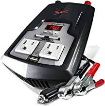 Schumacher XI75DU 750W Digital Power Converter with Battery Clamps and 12V Adapter Plug
