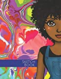 SKETCH BOOK: blank notebook for drawing, sketching, painting, fashion design,' sketchbook for african american women