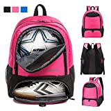 Boys Girls Soccer Bags Soccer Backpack Basketball vollyball Football Bag Backpack for Youth with Ball Compartment All Sports Bag Gym