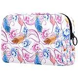 Bolsa de maquillaje de dibujos animados cosméticos bolsa impresa artículos de tocador bolsas de viaje bolsas de cosméticos para las mujeres de cuatro colores hojas