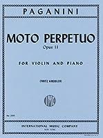 パガニーニ/クライスラー : 無窮動 Op.11/インターナショナル・ミュージック社/ピアノ伴奏付バイオリン・ソロ用編曲楽譜