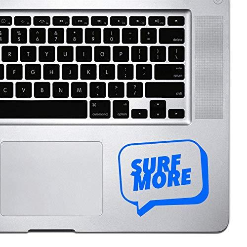 DKISEE Laptop Sticker Surf Meer Speech Bubble Sticker voor MacBook Pro, Chromebook en Laptops Vinyl Stickers 8 inch Blauw