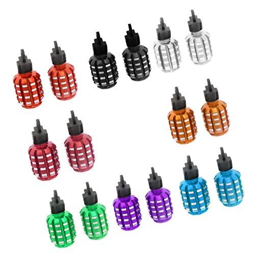 Sharplace Válvula Neumático Tapones forma de granada de coche Mixta Color 8par
