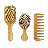 1 set Scalp Massage Air Cushion Comb Bamboo Peluquería Peine Peinado Peinado Peine Cuero cabelludo Cuidado del cabello (Color : 1 SET)