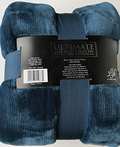 Life Comfort Ultimate Sherpa Throw, Turquoise