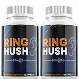 Ring Hush Pills for Tinnitus Supplement Ringhush Capsules for Hearing Ear Loss (2 Pack)