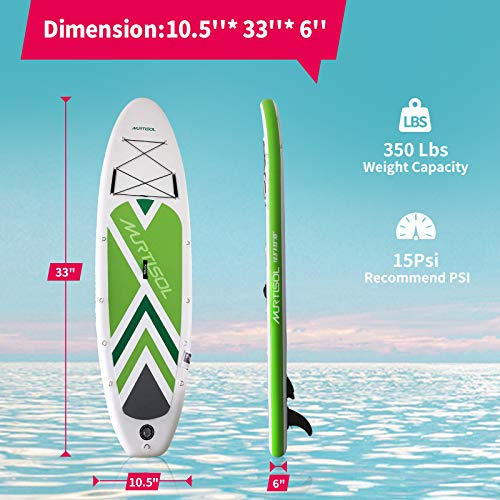 Product Image 4: Murtisol Inflatable Paddle Board Stand Up Paddle Green