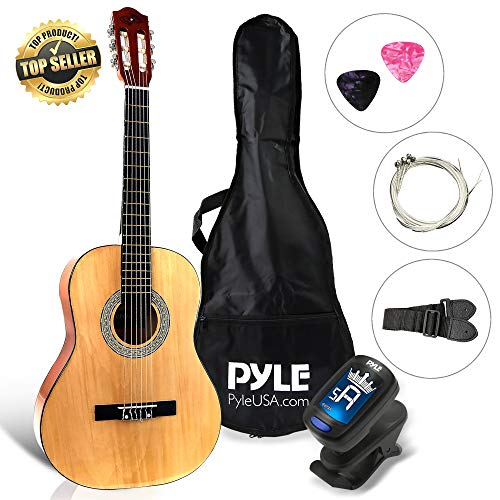 "Beginner 36"" Classical Acoustic Guitar - 6 String Junior Linden Wood Traditional Guitar w/Wooden Fretboard, Case Bag, Tuner, Nylon Strings,..."