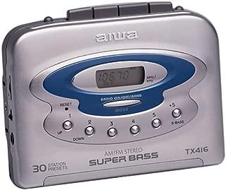 Aiwa HSTX416 Digital Synthesized Tuner Worldwide AM/FM, 3LCD Battery Checker