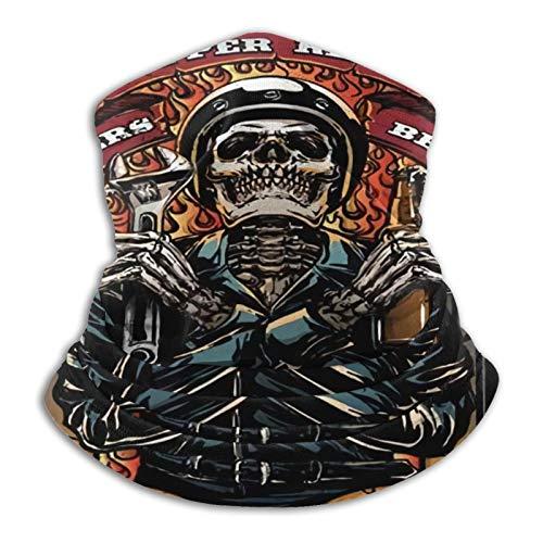Custom made Bufanda redonda Harley Davidson negra – perfecta para usar como tapón de viento, calentador de cuello, pañuelo para la cabeza, bufanda tubular y sombrero.