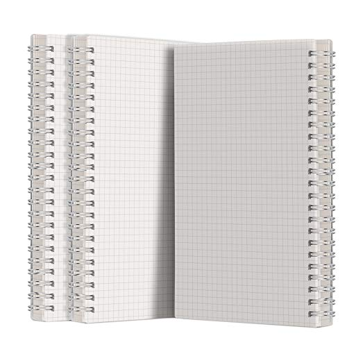 A5 Graph Paper Notebook Spiral (3-Pack) - AHGXG Spiral Journal 5.7x8.3 inch with Thick 100gsm Square Grid Paper,80 Sheets Per Pack