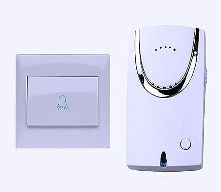 WYMLKUD ワイヤレス?ドアベル、 防水 プラグインレシーバ+トランスミッタ(バッテリが必要)、 32のメロディー、 4スピード音量調整、 世帯 クリエイティブファッション ABS材料、 ホワイト (色 : 白)