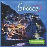 Ilove Greece Calendar 2022: Official Greece 2022 Calendar ,(12 Months) Square 2022 Calendar ,europe 2022 Calendar