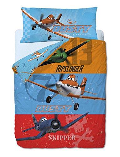 Dekbedovertrekset 3 stuks. De vliegtuigen Disney Planes: dekbedovertrek, hoeslaken house en kussensloop.
