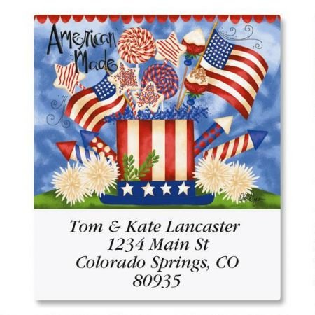 """Seasons of Whimsy Square Address Labels (12 Designs) - Set of 144 1-1/2"""" x 1-3/4"""" Self-Adhesive, Flat-Sheet Labels"""