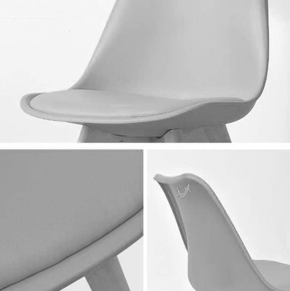 PP Chaise à Manger en Plastique, Solides Pieds de Chaise en Bois avec Dossier Conception Artificielle Bureau européen café Restaurant Yellow