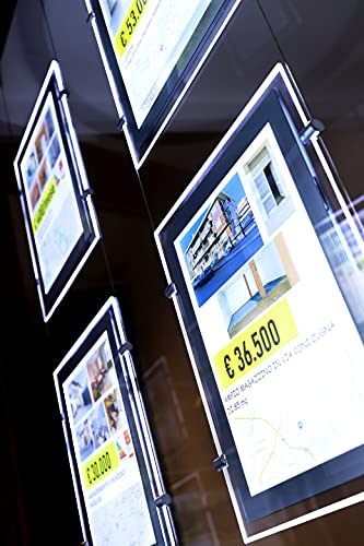 Modern Vision Carta Retroilluminante-Pannelli Luminosi-Stampanti Laser (Backlit Paper-100gr.) A3 100pz - Ideale per Agenzie Immobiliari e Agenzie Viaggi -Compatibile con Pannelli Vitrinemedia.