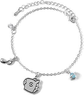 Youyouchard Kpop BTS Bangtan Boys Cute Cartoon Titanium Steel Jewelry Silver Bracelet Adjustable, Best Gift for BTS Army BTS Girls BTS Kids