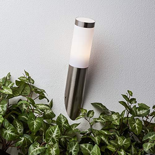Brilliant G96228/82 Applique exterieure LED Adonia, 3W E27, IP44, Special/Plastique, Coloris Acier, 3.3 W