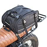 Vuz Expandable Motorcycle Tail Bag - Waterproof Motor Bike Cargo Luggage, for Adventure, Touring, Urban and Dirtbike Riders