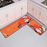 Alfombra de piso de cocina Home Entrada Felpudo Zapatero Alfombras Baño Alfombra antideslizante Dormitorio Armario Rectángulo Alfombra NO.2 50X80cm y 50X160cm