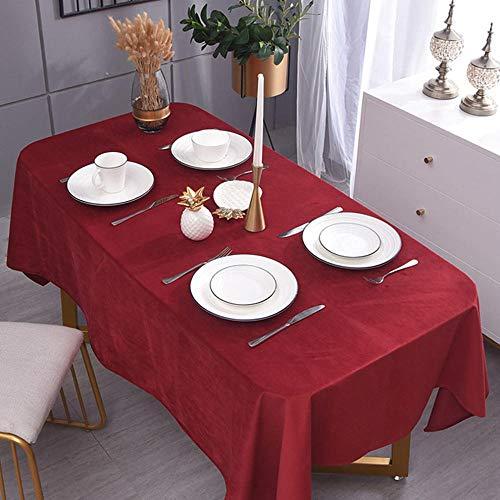YUQIBXC Elegant Tafelkleed Rechthoekig Fluwelen Tafelkleed Veeg Schoon Decoratief Effen Zacht Diner Tafelkleed voor Koffie Keuken Party Restaurant Tafel
