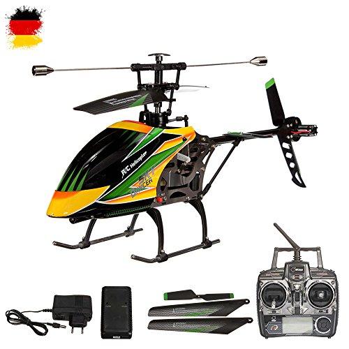4.5 Kanal 2.4GHz RC ferngesteuerter XL Single-Blade Hubschrauber Helikopter mit 2,4GHz-Technik; UPGRADE EDITION optional mit Kamera erweiterbar, inkl. CRASH-KIT, Fernsteuerung und Akku,