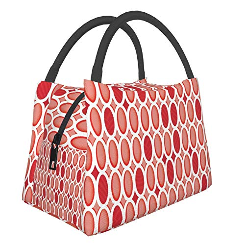 Red Earrings Lunch Bag Cooler Bag Women Tote Bag Insulated Lunch Box Water-Resistant Thermal Lunch Bag Soft Liner Lunch Bags For Women/Picnic/Boating/Beach/Fishing/Work