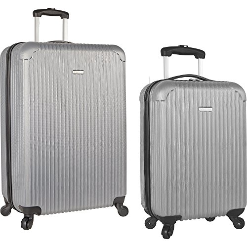 Travel Gear 19' and 28' Hardside Spinner Luggage Set with Carry on, Grey