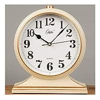 WFL クロック デスククロックヨーロッパレトロクロッククロッククロックリビングルームテーブルクロック振り子時計デスクトップクリエイティブ座る時計クロックオーナメント 最新の (Color : B)