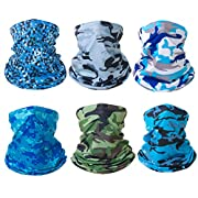 Breathable Material -- 100% Polyester. The washable seamless bandana is made of light and breathable material, which can absorb sweat and dry quickly. Perfect Protection -- Our neck gaiter keep you cool in the sun and warm in cold weather,protect you...