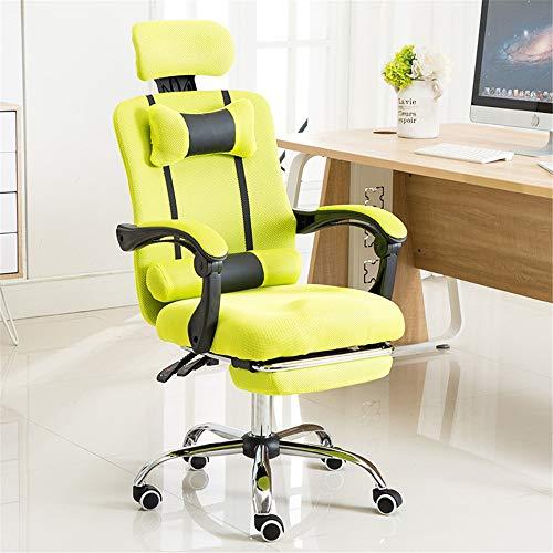 NgMik Gaming Chair Reclining Bürostuhl Breathable Ineinander greifen-Stuhl Lifting Massage-Stuhl Faul Schlafzimmer Stuhl Siesta Personal Stuhl Gaming Chair Ergonomischer Bürostuhl