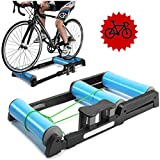 FHUILI Foldable Bike Trainer - Bike Rollers Foldable Bike Bicycle Training Bracket Trainer MTB Road Cycling...