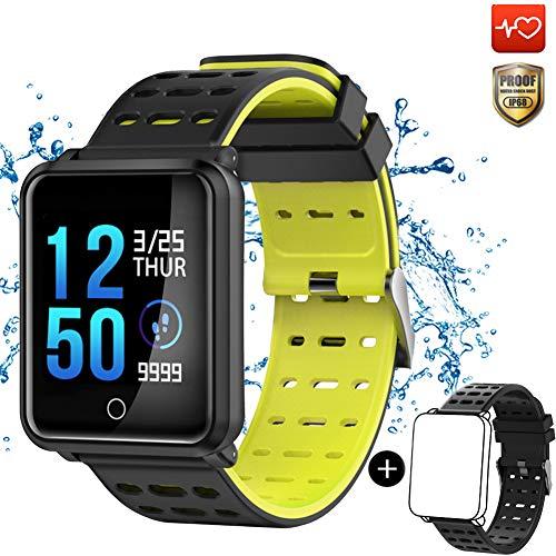 CanMixs Smart Watch CM05 Impermeabile IP68 Tracker Fitness con cardiofrequenzimetro Cronometro Sonno Monitor Pedometro Calorie Counter Camera Telecomando Bluetooth Activity Bracciale per Android iOS