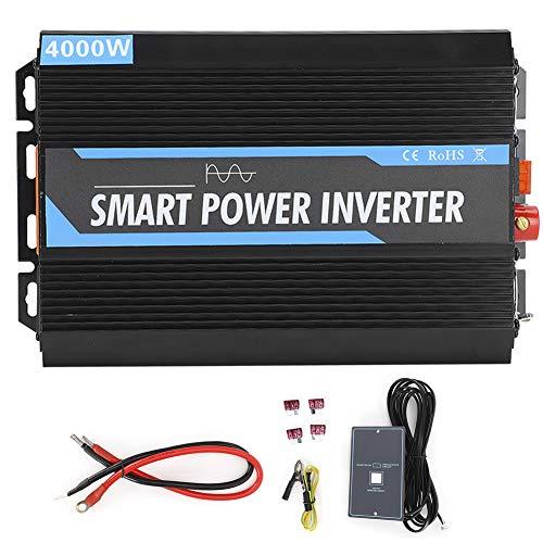 Power Inverter Onda Sinusoidale Pura 4000W 8000W Power Inverter Trasformatore di Potenza Convertitore DC 12V a AC 220V Inverter di Tensione con Porte USB + 2 Presa AC