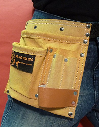 WIM-SHOP Kinder Werkzeuggürtel Werkzeugtasche aus ECHT - Leder