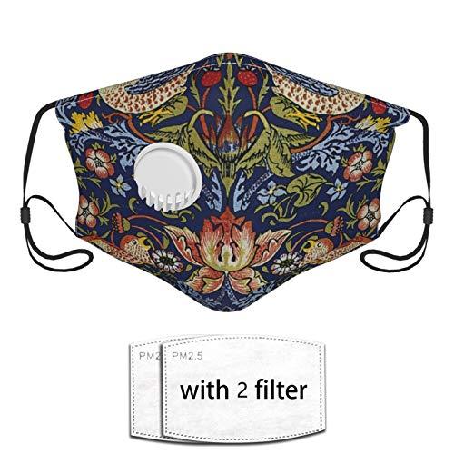 Face Bandana Mouth Cover - Art Flowers And Birds Neck Gaiter Breathable Balaclava - Reusable For Man, Woman, Outdoor