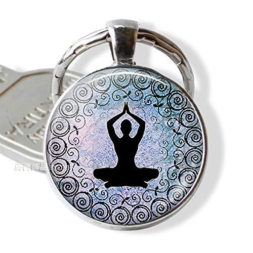 DSBN sleutelhanger 7 chakra yoga symbool sleutelhanger mannen vrouwen oldtimer sleutelhanger sleutelhanger Indian meditatie sieraden als show