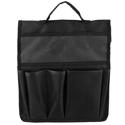 Bolsa de almacenamiento plegable para jardín, banco para rodillas, taburete, bolsa de herramientas, carrito de trabajo portátil para exteriores, organizadores colgantes(negro)