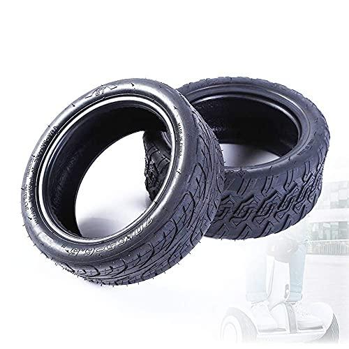 OHHG Neumáticos Scooter eléctrico, neumáticos vacío Prueba explosiones 70/65-6,5, Antideslizantes Resistentes Desgaste, compatibles con 9 Coches Equilibrio, 2 Piezas