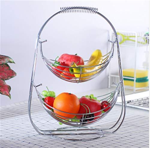 Frutas Cuencos de frutas Cesta Rack Cromado Swinging Hamaca Hamaca Vegetal Basket...