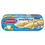 SAUPIQUET - Filets Maquereaux Vin Blanc Et Aromates 176G - Lot De 4 - livraison offerte