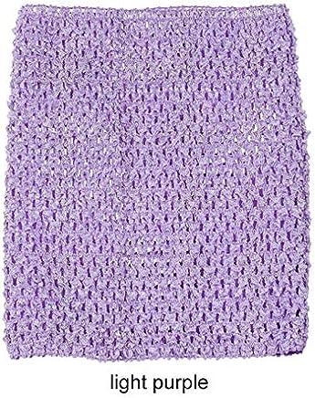20x23CM Tube Tops Children Wrapped Chest Tutu Dress DIY Craft Supplies 9 Inch Elastic Crochet Crochet Raw Material Accessories : Light Purple