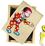 Schylling Curious George Moody Puzzle, 1 EA