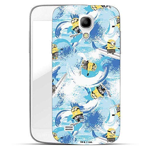 Hülle für Samsung Galaxy S4 - Minions Handyhülle mit Motiv und Optimalen Schutz Tasche Case Hardcase Cover Schutzhülle - Minions Surfen Muster