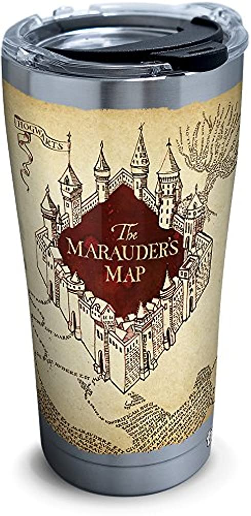 Tervis 1293210 Harry Potter-the Marauder'S Map Insulated Tumbler, 20 oz Stainless Steel, Silver