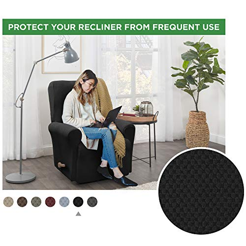MAYTEX Pixel, Recliner, Black Chair Slipcover