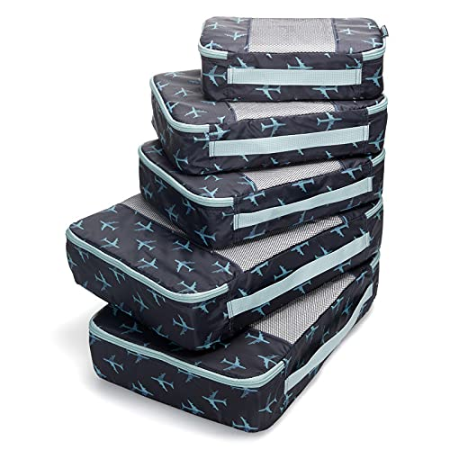 TravelWise Packing Cubes, Navy Airplanes