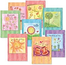 in This Together Friendship Greeting Cards Value Pack - Set of 16 (8 Designs) Large 5 x 7 Cards, Sentiments Inside, Thinking of You Cards, Envelopes Included