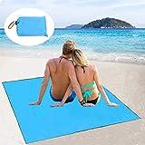 maibtkey Picnic Manta playa resistente al agua ligera portátil con asa grande 215 x 215 cm, Blanket para camping playa Viajes Senderismo, azul